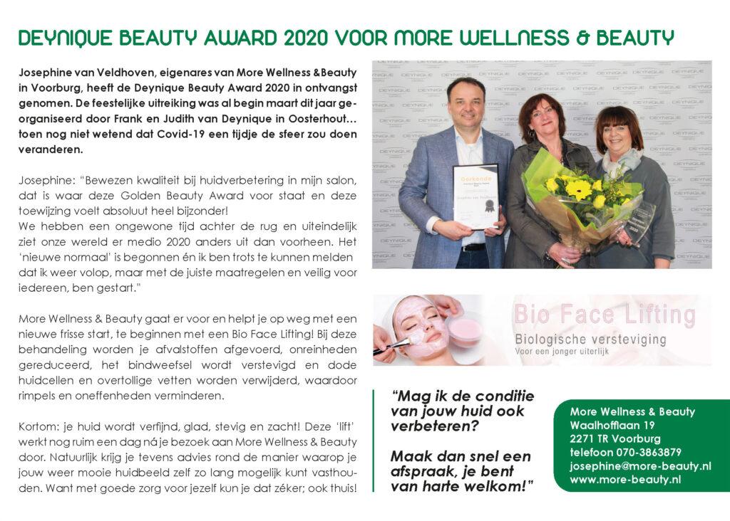 Artikel Deynique Beauty Award in Stijl & Allure